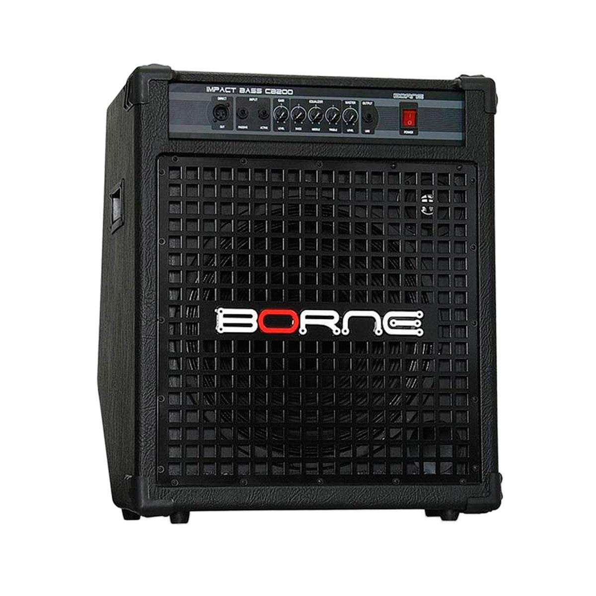 Cubo Ativo p/ Contrabaixo Fal 15 Pol 200W Impact Bass - CB 200 Borne