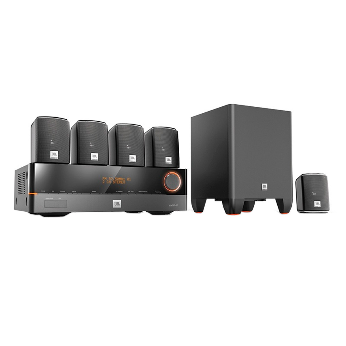 CinemaJ5100 - Home Theater c/ Receiver 5.1 Canais 4 HDMI, 5 Caixas e 1 Subwoofer Cinema J5100 110V - JBL