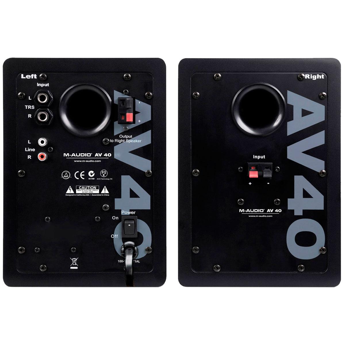 Monitor de Referência Ativo Fal 4 Pol 20W (Par) - Studiophile AV 40 M-Audio