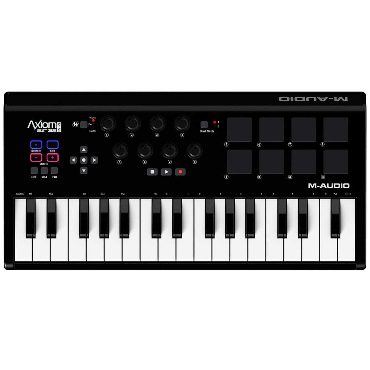Teclado Controlador MIDI 32 Teclas c/ USB - Axiom AIR Mini 32 M-Audio