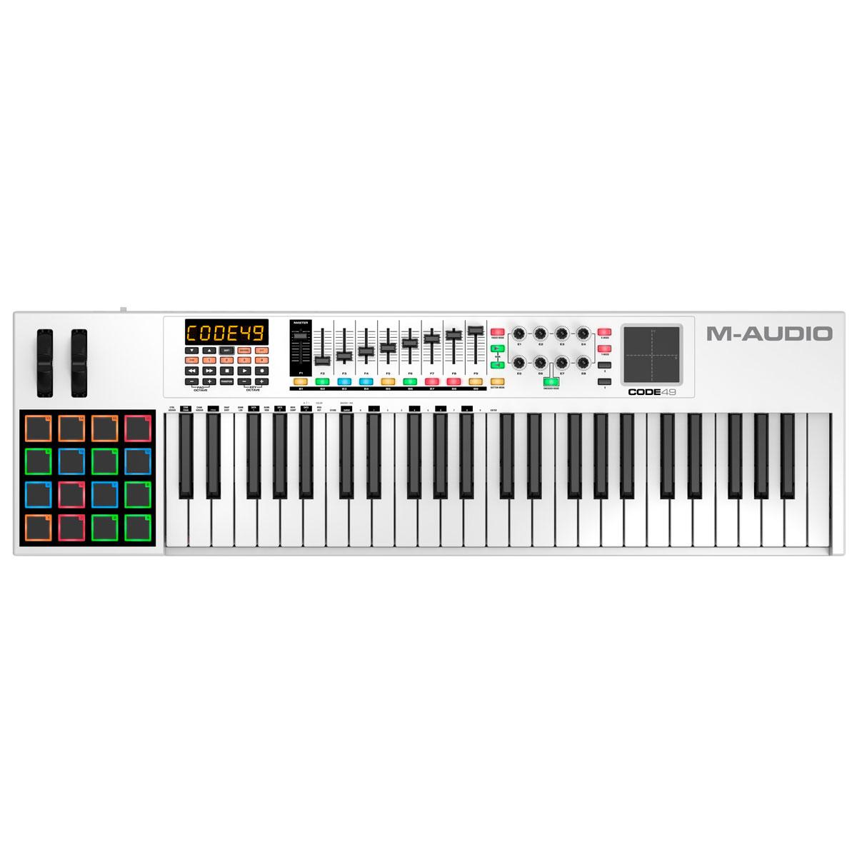 Teclado Controlador MIDI 49 Teclas c/ USB - Code 49 M-Audio