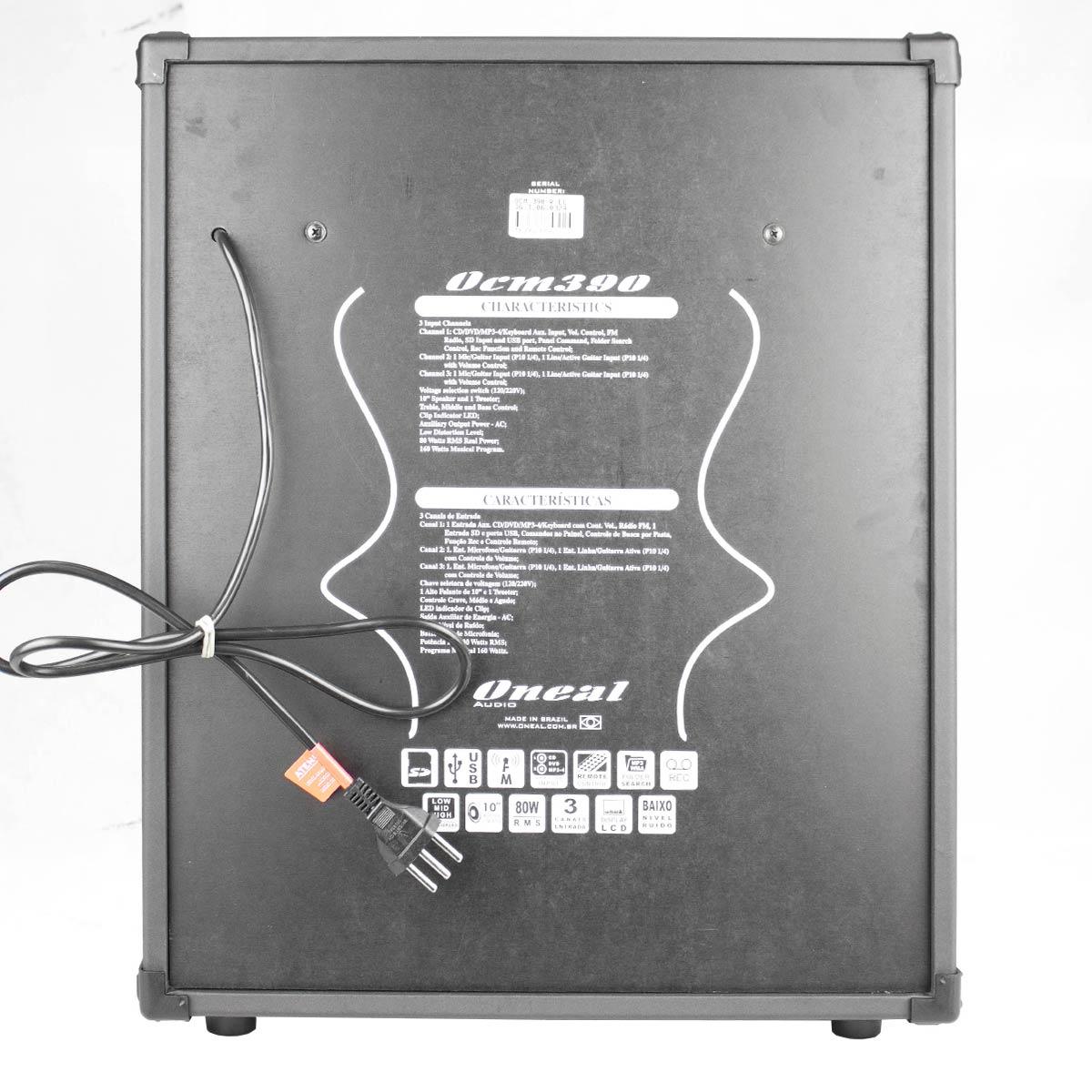 Cubo Multiuso Ativo Fal 10 Pol 80W c/ USB - OCM 390 Oneal