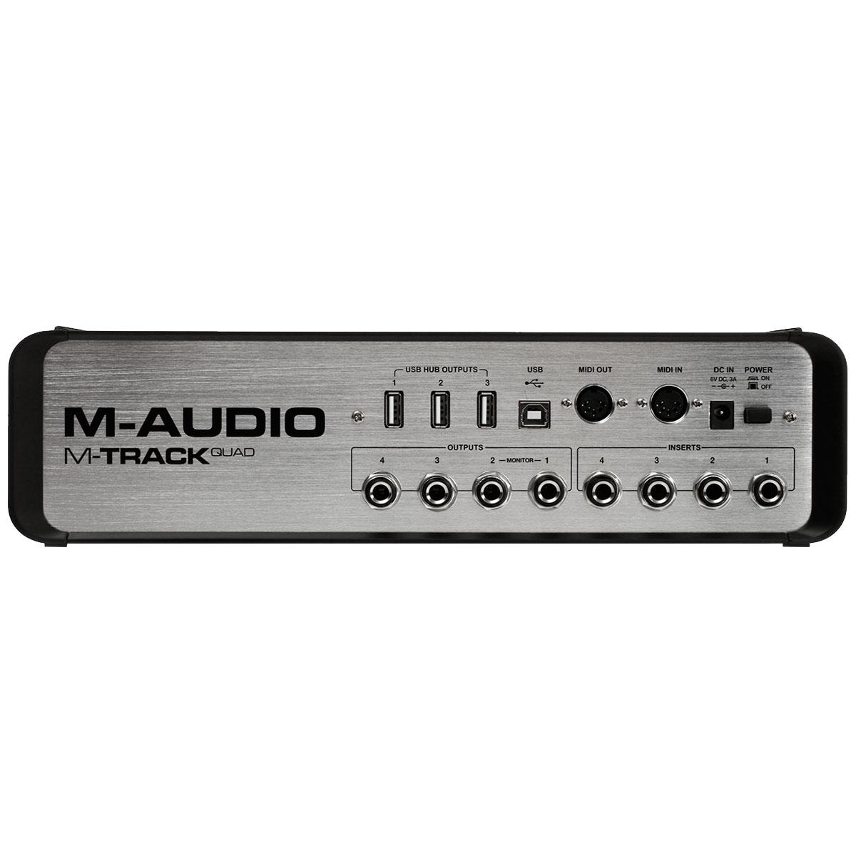 Interface de Áudio 4 Canais USB M-Track Quad - M-Audio