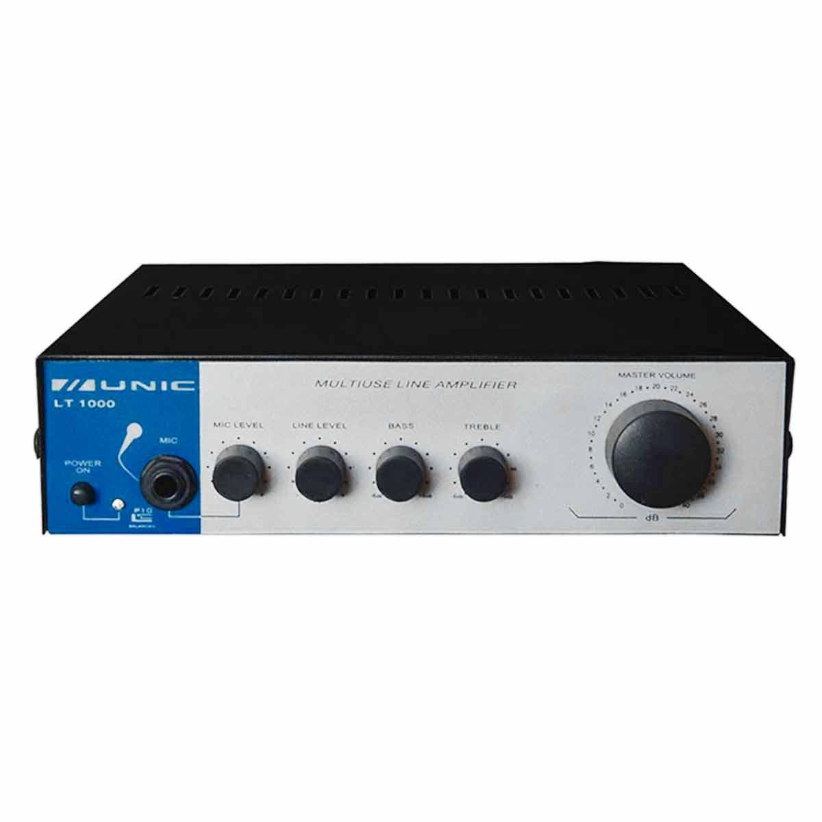 Amplificador Som Ambiente 20W até 12 Caixas - LT 1000 Unic