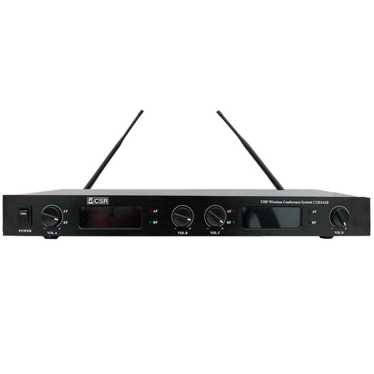 Microfone Gooseneck sem Fio 48 Centímetros UHF (4 Unidades) - 840 B CSR