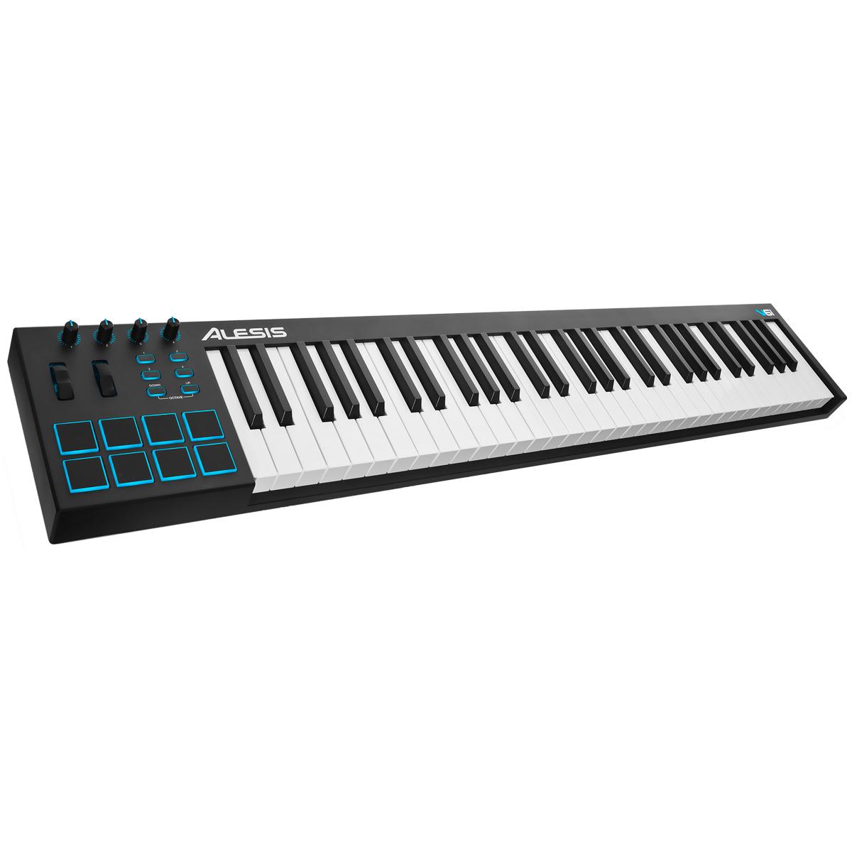 Teclado Controlador MIDI 61 Teclas c/ USB - V 61 Alesis