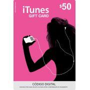 Cartão Itunes $50 Gift Card
