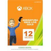 Xbox Live 12 Meses Gold Card (Live Americana)