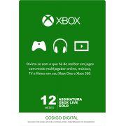 Xbox Live 12 Meses Gold Card (Live Brasil)
