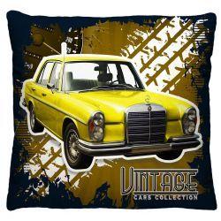 Capa para Almofada Estampada Vintage Tecido Microfibra - Carro Amarelo A224
