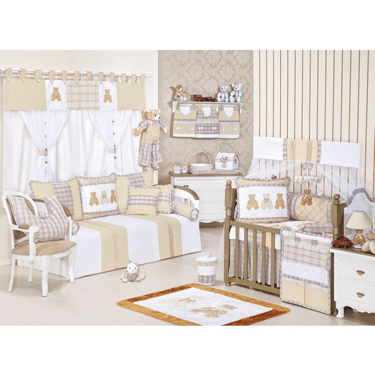 Pêndulo para Cortina de Bebê 02 Peças Coleção Bears - Caqui