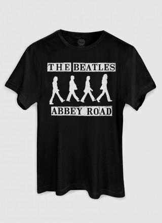 Camiseta Masculina The Beatles Abbey Road P&B