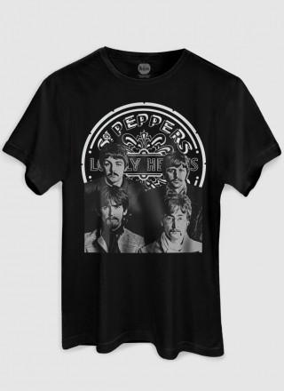Camiseta Masculina The Beatles Sgt Pepper's P&B
