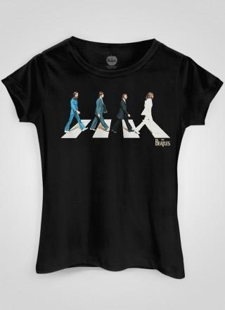Camiseta Feminina The Beatles Abbey Road