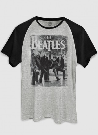 Camiseta Raglan Masculina The Beatles Hey What´s That