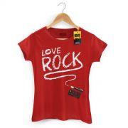 Camiseta Feminina 89FM A Rádio Rock Love Rock
