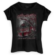 Camiseta Feminina Aerosmith Train Kept a Rolling