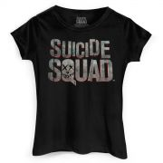 Camiseta Feminina Esquadrão Suicida Logo