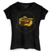 Camiseta Feminina Halo Master Chief Helmet