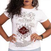 Camiseta Feminina Harry Potter The Marauder´s Map