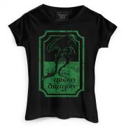 Camiseta Feminina O Senhor dos Anéis Green Dragon