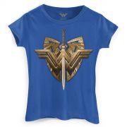 Camiseta Feminina Wonder Woman Sword & Emblem