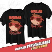 Camiseta Personalizada Jaime Você Rock Star