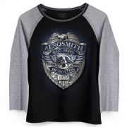 Camiseta Manga Longa Feminina Aerosmith Bad Boys of Boston