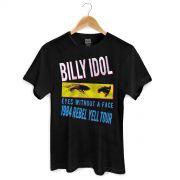 Camiseta Masculina Billy Idol Eyes Without a Face.