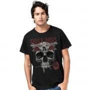 Camiseta Masculina Guns N´ Roses Skull
