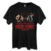 Camiseta Masculina Mortal Kombat Choose Your Destiny