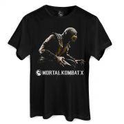Camiseta Masculina Mortal Kombat X Capa