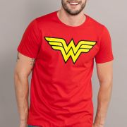 Camiseta Masculina Wonder Woman Logo
