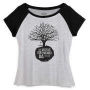 Camiseta Raglan Feminina Biquini Cavadão As Voltas Que o Mundo Dá