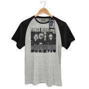 Camiseta Raglan Masculina 89FM A Rádio Rock Ramones Never Ends