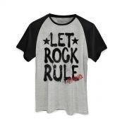 Camiseta Raglan Masculina Aerosmith Let Rock Rule Graffiti