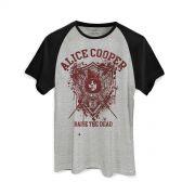 Camiseta Raglan Masculina Alice Cooper Raise The Dead