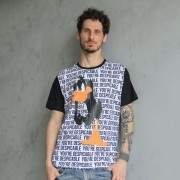 T-shirt Raglan Unissex Looney Tunes Patolino You´re Despicable