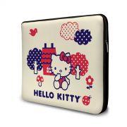 Capa para Notebook Hello Kitty Flowers