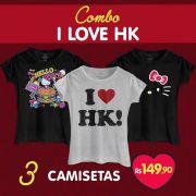 Combo Feminino Hello Kitty I Love HK