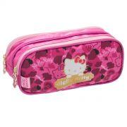 Estojo Duplo Hello Kitty Love Leopard
