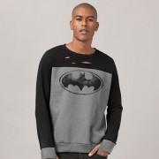 Moletinho Bicolor Batman Logo Paint