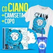 Combo Fresno CD Ciano + Copo + Camiseta Masculina