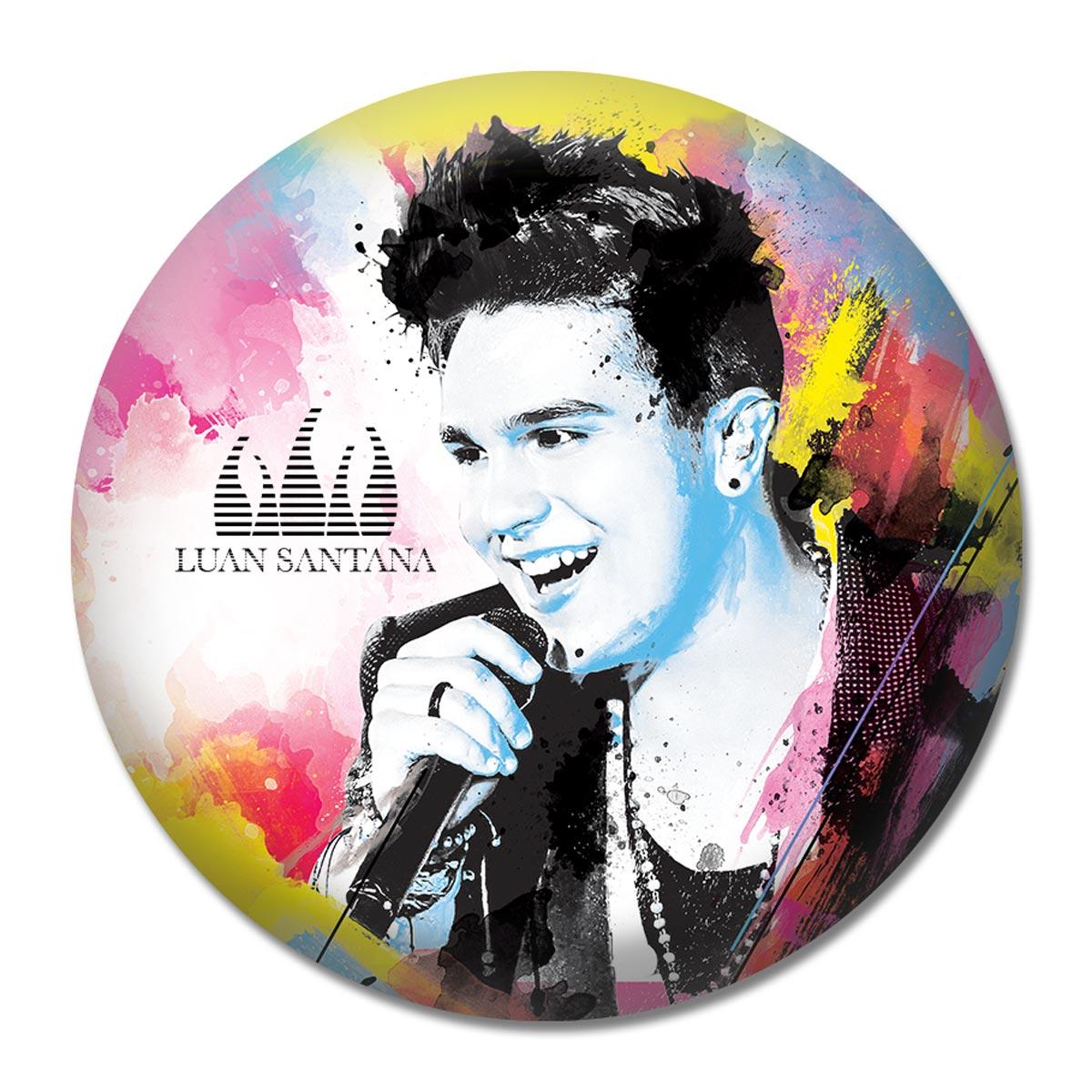 Button Luan Santana Foto Colors