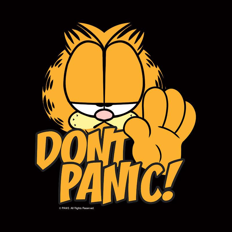 Camiseta Feminina Garfield - Dont Panic