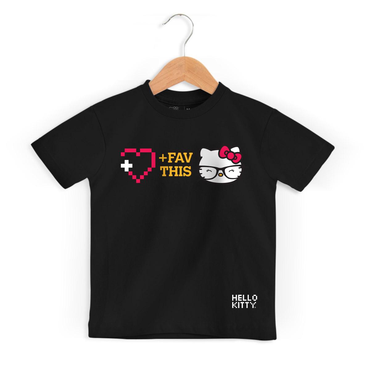 Camiseta Infantil Hello Kitty Fav This
