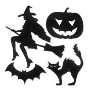Adesivo de Vinil Bruxa Halloween - 4 Unidades