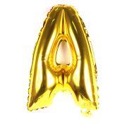Balão Metalizado Letra A Dourado 45cm