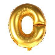 Balão Metalizado Mini Shape Letra O Dourado 70cm