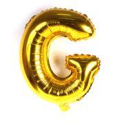 Balão Metalizado Mini Shape Letra G Dourado 70cm